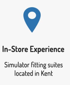 We have in-store simulator fitting suites in Kent to help you get fitted for the best golf clubs