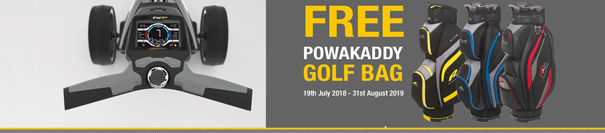 PowaKaddy Free bag offer with FW7s and FW7s EBS TROLLEYS