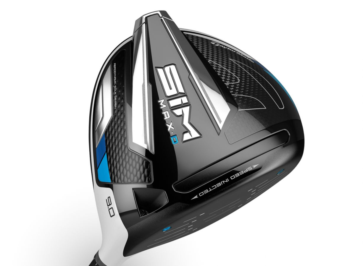 TaylorMade SIM MAX DRAW Driver bias design. Delivering more clubhead speed and enhanced aerodynamics.